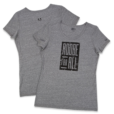 Women's Grey Adobe For All Tee