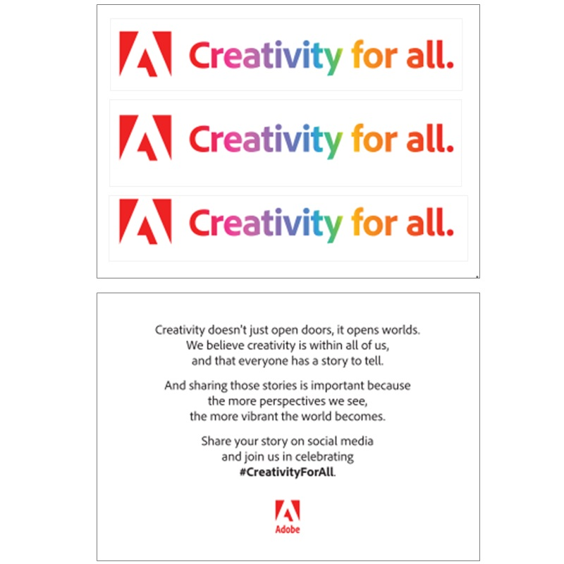 Creativity For All Sticker