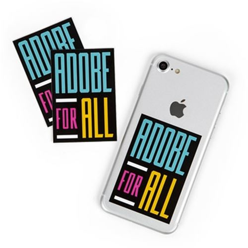 Adobe For All Sticker