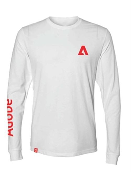 Unisex Sueded Long Sleeve White Tee